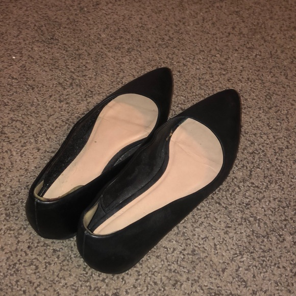 Call it Spring Black pointy toe flats
